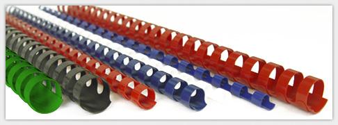 verschiedene Plastikspiralen